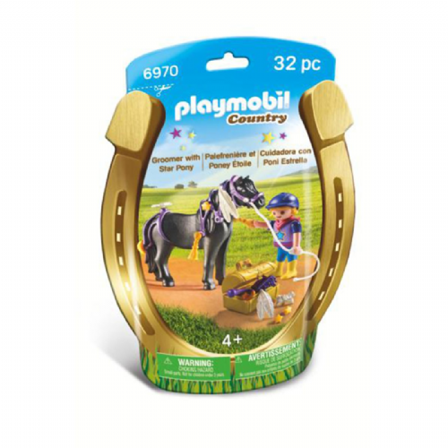 Playmobil Country 6970 Groomer with Star Pony
